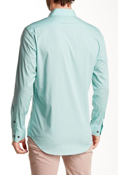 Imbracaminte Barbati 14th Union Long Sleeve Trim Fit Solid Dress Shirt BLUE RESORT