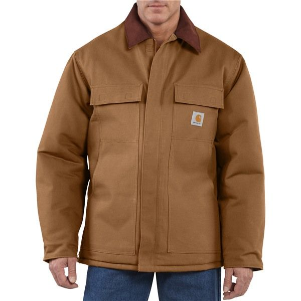 Imbracaminte Barbati Carhartt Traditional Duck Work Coat - Insulated Arctic Quilt Lining CARHARTT BROWN (03)