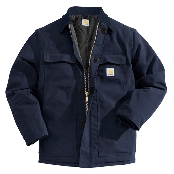 Imbracaminte Barbati Carhartt Traditional Duck Work Coat - Insulated Arctic Quilt Lining DARK NAVY (01)
