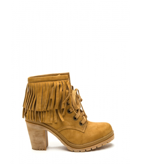 Incaltaminte Femei CheapChic Fringe To Go Chunky Booties Yellow