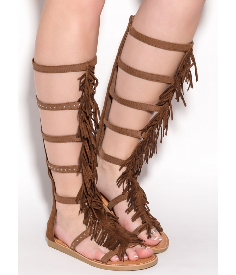 Incaltaminte Femei CheapChic Play To Win Gladiator Sandals Cognac