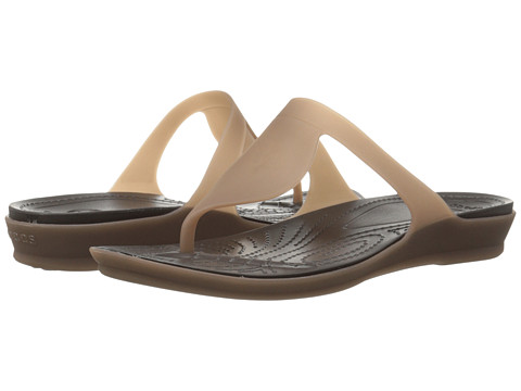 Incaltaminte Femei Crocs Rio Flip BronzeEspresso