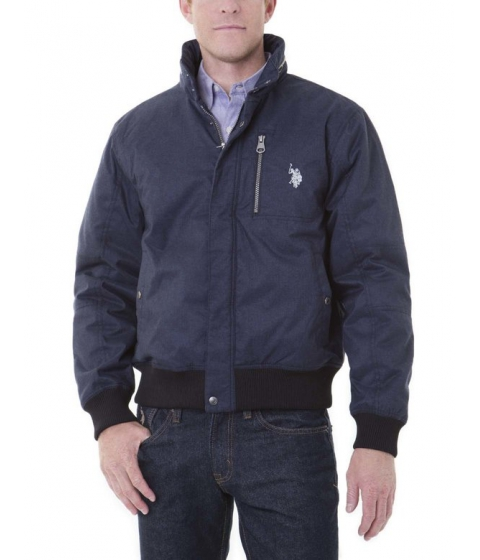 Imbracaminte Barbati US Polo Assn FAUX DENIM PRINT JACKET Classic Heather Navy