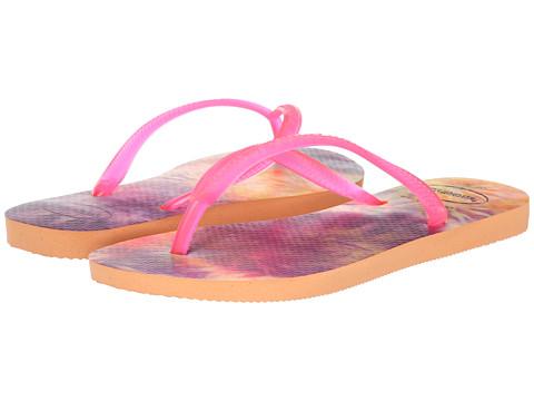 Incaltaminte Femei Havaianas Slim Tie Dye Flip Flops Peach