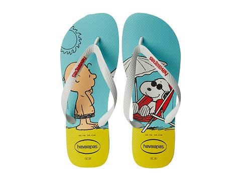 Incaltaminte Barbati Havaianas Snoopy Flip Flops WhiteWhite