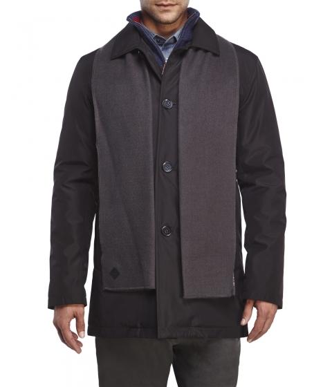 Imbracaminte Barbati Cole Haan Car Coat with Scarf Black