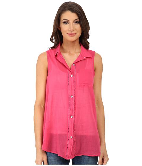 Imbracaminte Femei DKNY Cotton Gauze Sleeveless Boyfriend Shirt Azalea