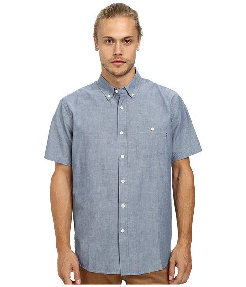 Imbracaminte Barbati Obey Bower Short Sleeve Woven Light Blue