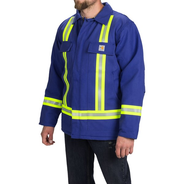 Imbracaminte Barbati Carhartt Flame-Resistant Duck Traditional Coat - Insulated (For Big and Tall Men) ROYAL (01)