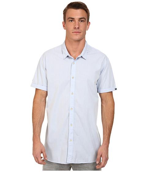 Imbracaminte Barbati Scotch Soda Short Sleeve Crispy Poplin Shirt Blue
