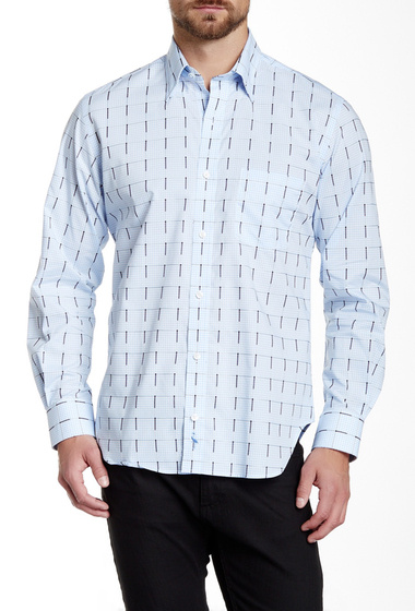 Imbracaminte Barbati TailorByrd Quakers Regular Fit Long Sleeve Woven Shirt CLOUD BLUE