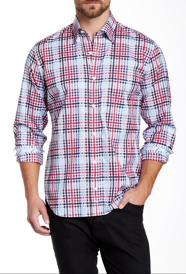 Imbracaminte Barbati TailorByrd U of Penn Regular Fit Long Sleeve Woven Shirt BORDEAUX