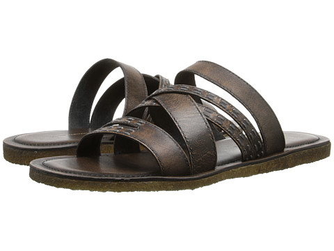 Incaltaminte Barbati John Varvatos Tobago Stitch Slide Walnut
