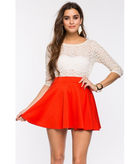 Imbracaminte Femei CheapChic Essential Flare Skirt Orange