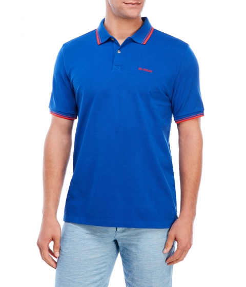 Imbracaminte Barbati Ben Sherman Romford Block Trim Polo Royal Blue