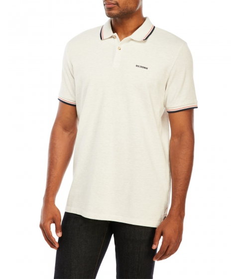 Imbracaminte Barbati Ben Sherman Romford Block Trim Polo Off White