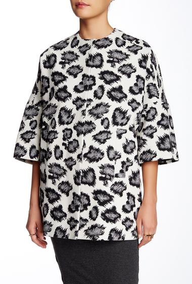 Imbracaminte Femei Charles Gray London Kimono Coat IVORY-BLACK ANIMAL