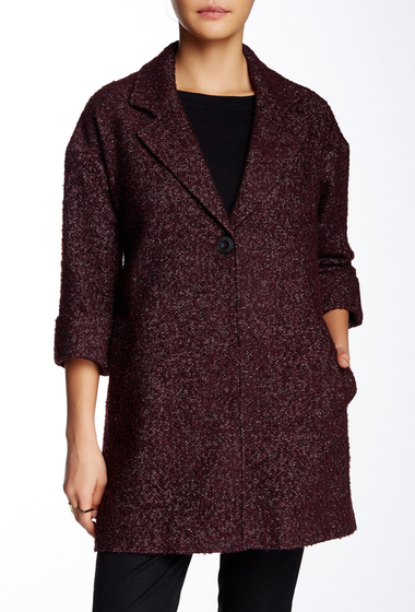 Imbracaminte Femei Charles Gray London Swing Coat BURGUNDY- BLACK-WHITE