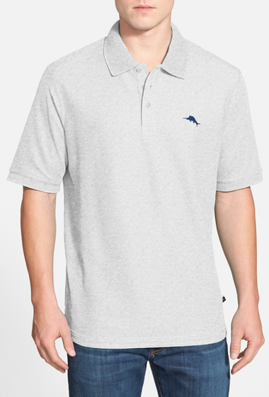 Imbracaminte Barbati Tommy Bahama Relax The Emfielder Pique Polo Big Tall SILVER GREY HEATHER
