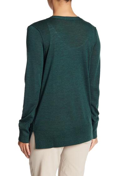 Imbracaminte Femei Halogen Lightweight Merino Wool V-Neck Cardigan GREEN GABLES HEATHER