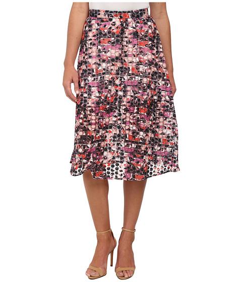 Imbracaminte Femei Sam Edelman Stripe Floral Embroidered Organza Midi Skirt Multi