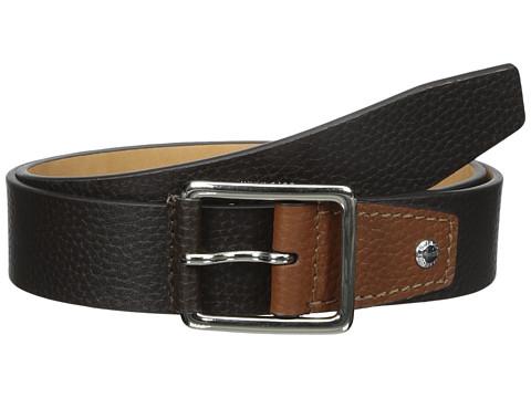 Accesorii Barbati Cole Haan 35mm Flat Stitch Strap Pebble Leather Pop Color Tab ChocolateBritish Tan