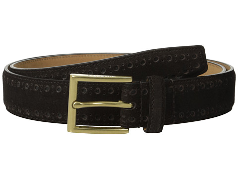 Accesorii Barbati Cole Haan 32mm Feather Edge Stitched Strap with Perforated Detail Java