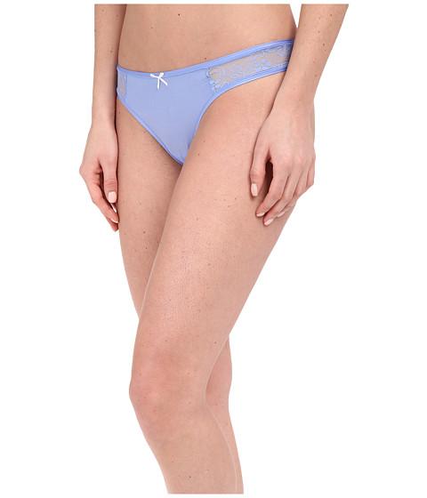 Imbracaminte Femei Betsey Johnson Slinky Knit amp Lace Thong J2950 Blue Dahlia