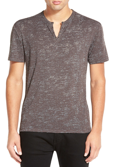 Imbracaminte Barbati Star USA By John Varvatos Burnout Henley TAUPE