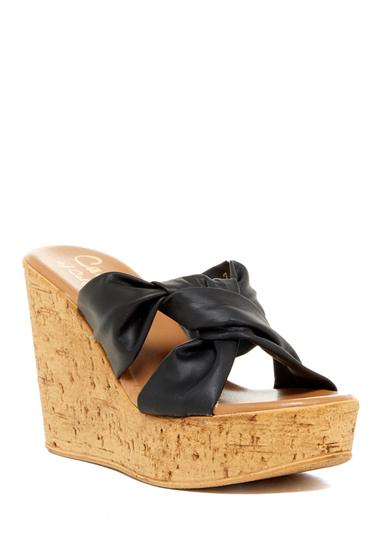 Incaltaminte Femei Callisto Rachel Knotted Strap Wedge Sandal Women BLACK