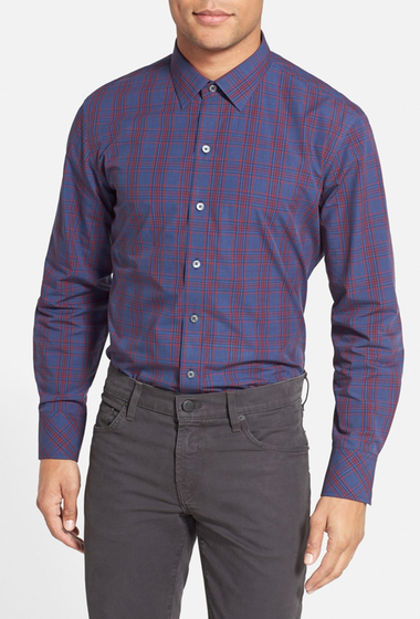 Imbracaminte Barbati Zachary Prell Brotzman Regular Fit Plaid Sport Shirt NAVY