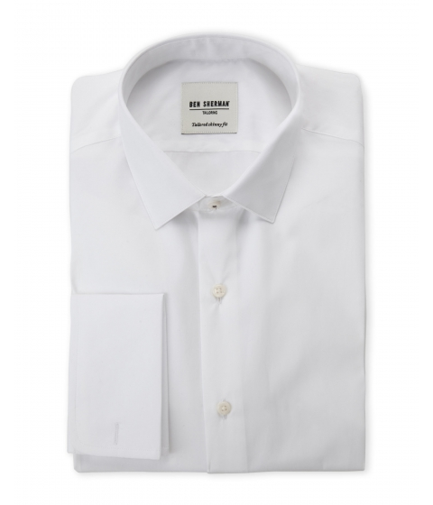 Imbracaminte Barbati Ben Sherman White Poplin Tailored Skinny Fit Dress Shirt White