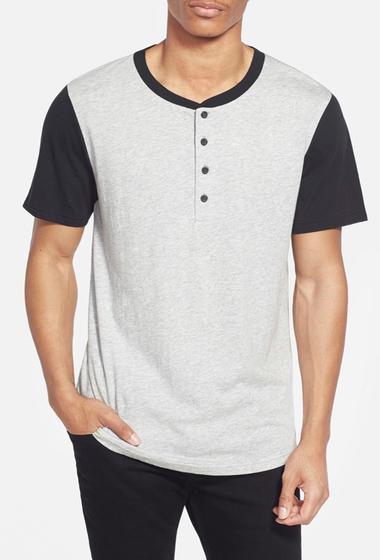 Imbracaminte Barbati Alternative Apparel Cotton Modal Baseball Henley T-Shirt HEATHER GREY- BLACK