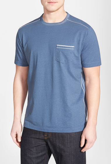 Imbracaminte Barbati Tommy Bahama Fray Day Crew Neck Tee CHAMBRAY