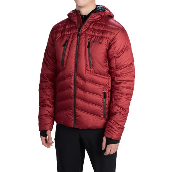 Imbracaminte Barbati Marmot Aerial Hooded Down Jacket - 700 Fill Power DARK CRIMSON (04)