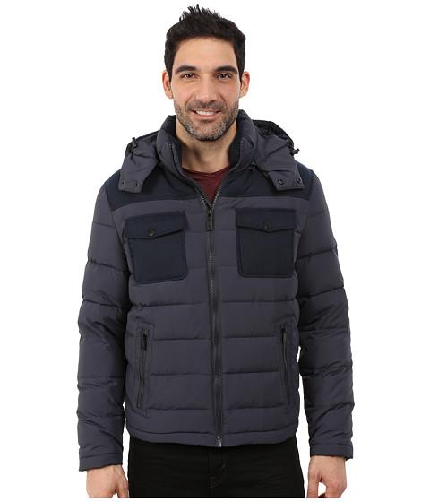 Imbracaminte Barbati Kenneth Cole Wool Down Flap Jacket Navy
