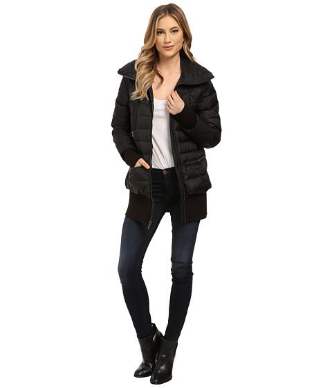 Imbracaminte Femei French Connection Pillow Collar Short Puffer Coat Black