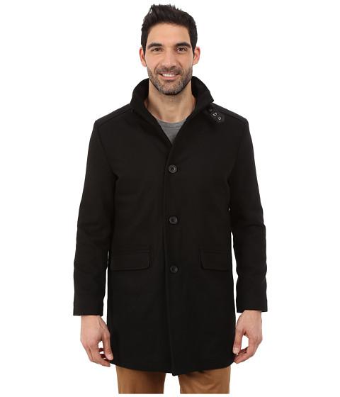 Imbracaminte Barbati Kenneth Cole Wool Top Coat Black