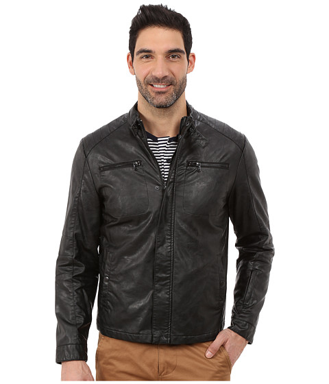 Imbracaminte Barbati Kenneth Cole Reaction Faux Leather Rider's Jacket Black