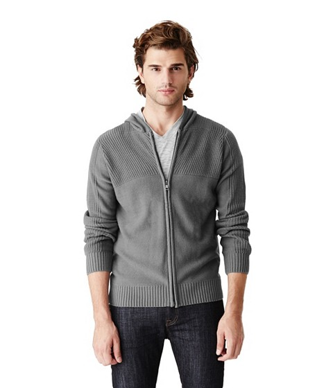 Imbracaminte Barbati GUESS Sutton Zip-Up Sweater Hoodie grey steel