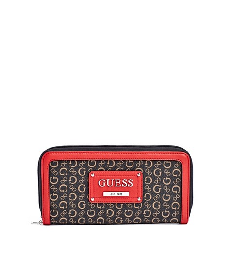 Genti Femei GUESS Proposal Zip-Around Wallet coral multi