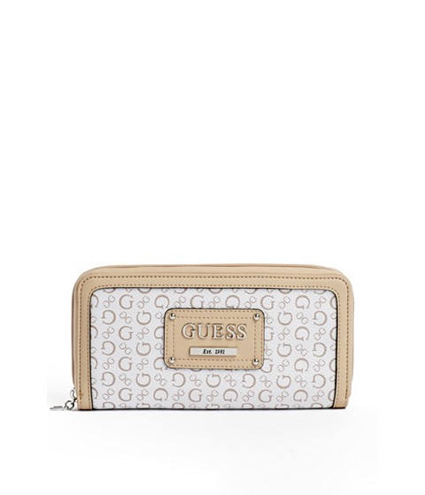 Genti Femei GUESS Proposal Zip-Around Wallet white