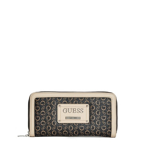 Genti Femei GUESS Proposal Zip-Around Wallet natural