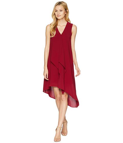 Imbracaminte Femei Adrianna Papell Asymmetrical Front Drape Dress Alizarin Crimson
