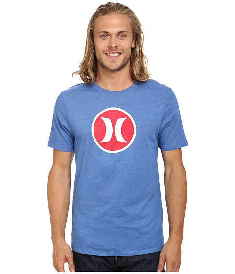 Imbracaminte Barbati Hurley Icon Dri-Fit Tee Heather Sports Blue