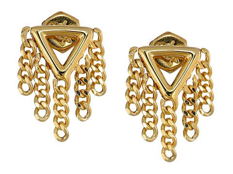Bijuterii Femei Marc by Marc Jacobs Beat It Triangle Fringe Stud Earrings Oro