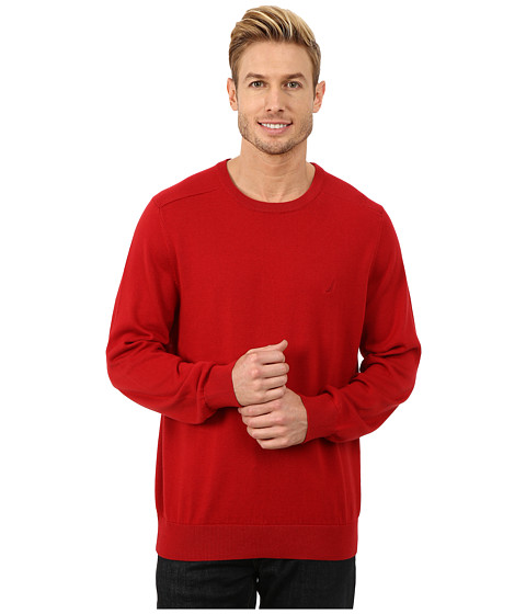 Imbracaminte Barbati Nautica Solid Crew Neck Sweater Ribbon Red