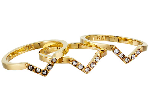 Bijuterii Femei Rebecca Minkoff Set of Three Rings Gold TonedHematite