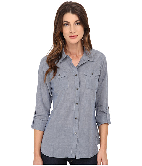 Imbracaminte Femei Jag Jeans Dawn Shirt Classic Fit Shirt Woven Tops Blue Stripe