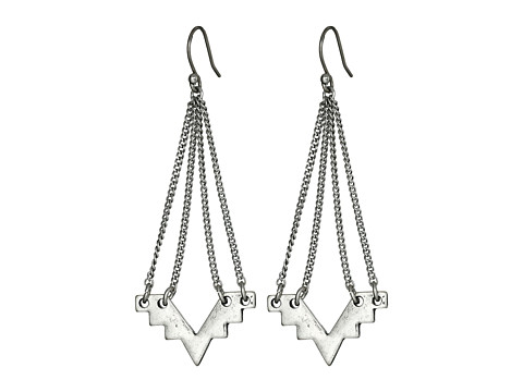 Bijuterii Femei Lucky Brand Silver Geo Chandelier Earrings Silver